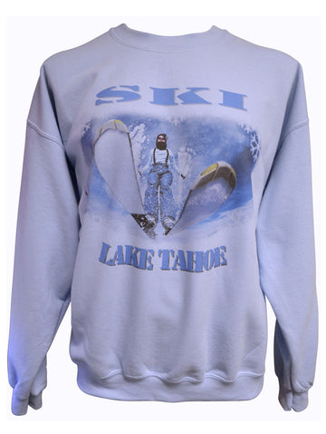 Ski Tahoe Warped Blue Sweatshirt