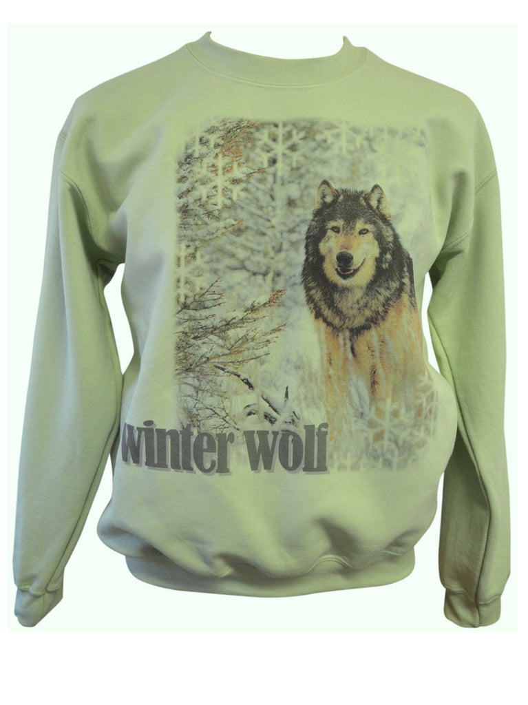 Winter Wolf Crew Sweatshirt