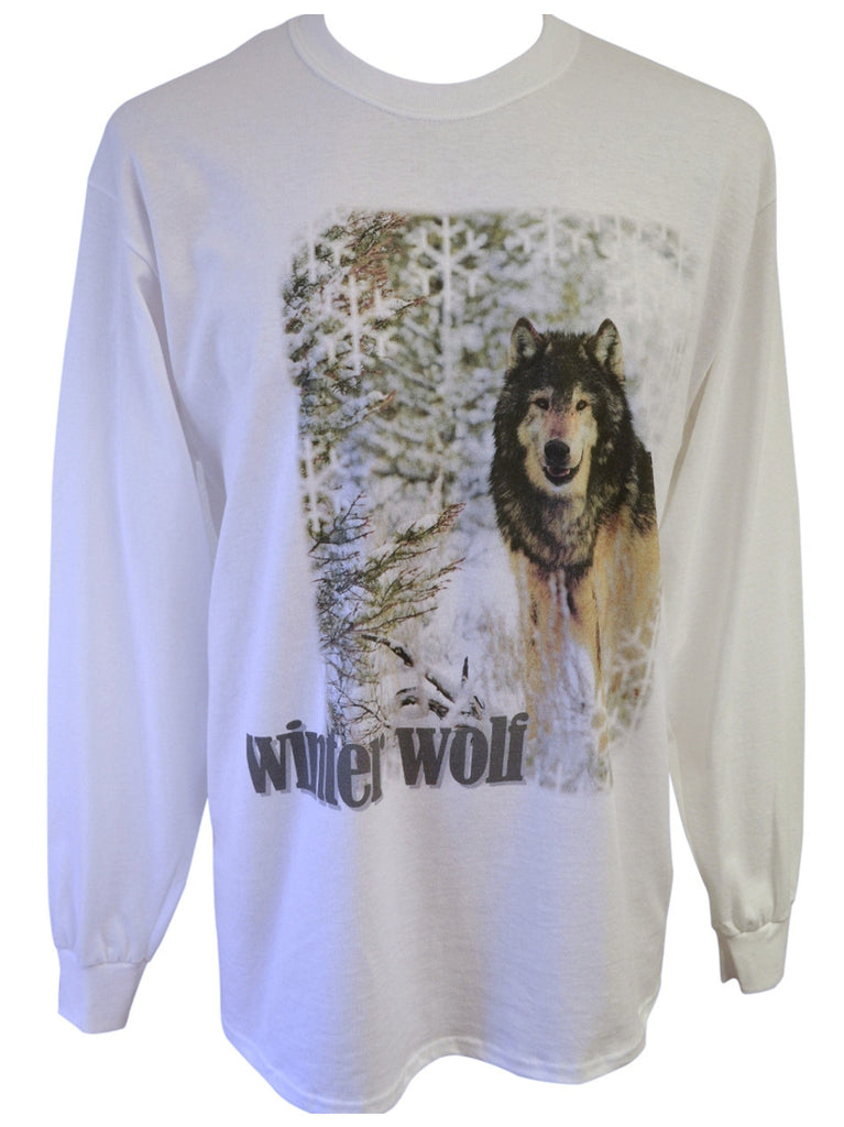 Winter Wolf White T-shirt Large