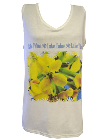 Yellow Wildflowers V-Neck