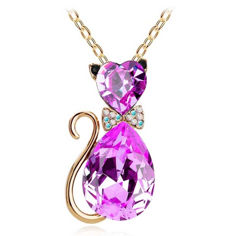Crystal Cat Necklace - Endangered Beauties LLC