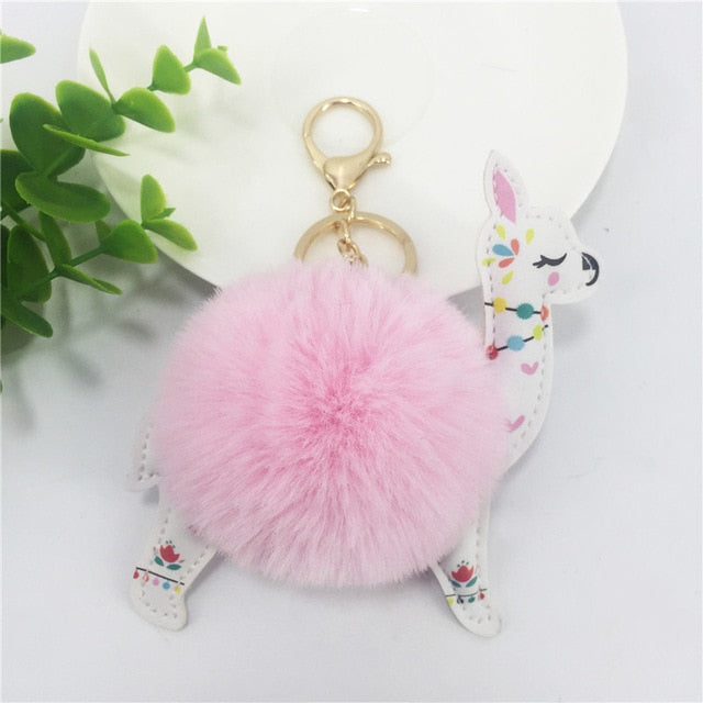 Plush Llama Key Chain - Endangered Beauties LLC