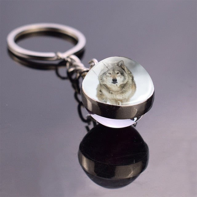 Wolf Keychain - Endangered Beauties LLC