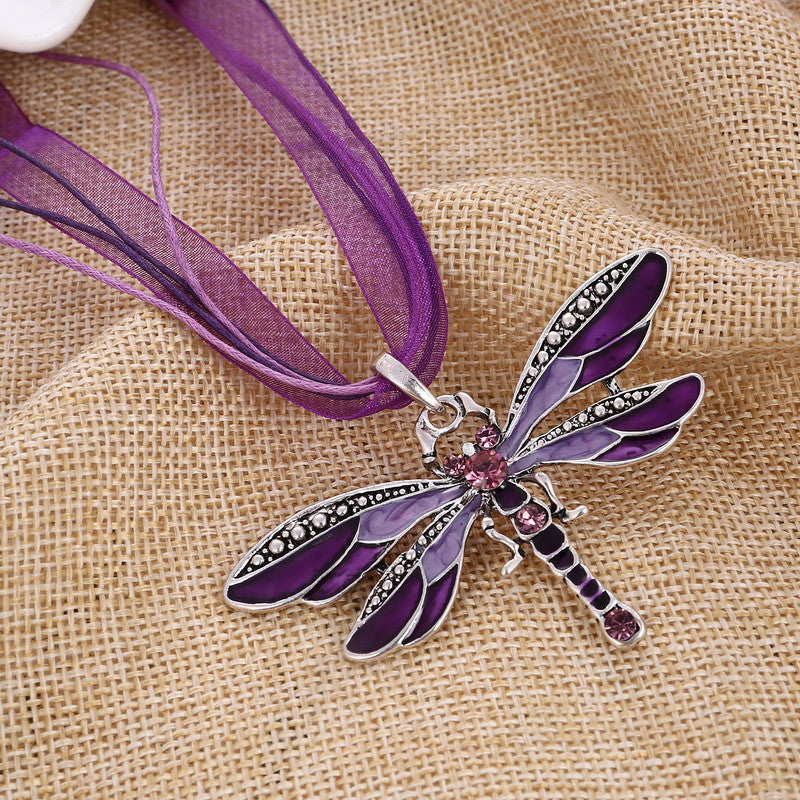 Dragonfly Necklace - Endangered Beauties LLC