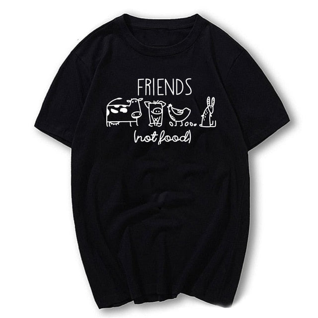 Friends Not Food Vegan T-Shirt - Endangered Beauties LLC