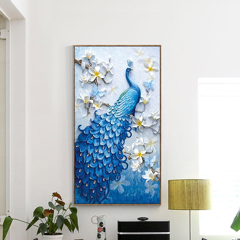 Peacock DIY Diamond Painting - Endangered Beauties LLC