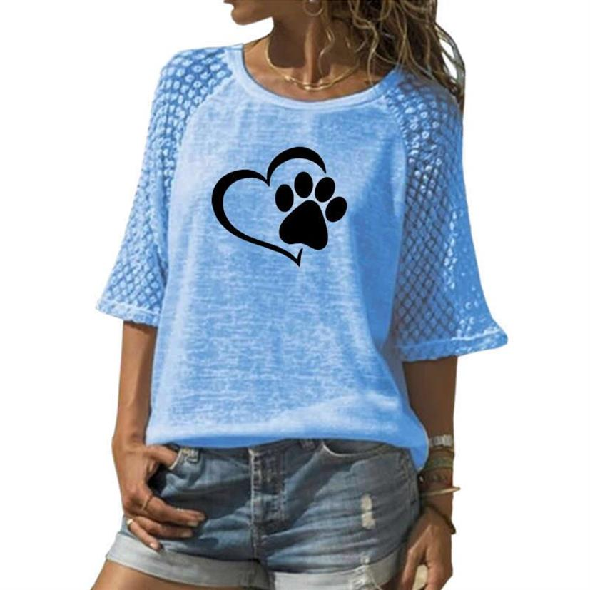 Paw Print Lace Shirt - Endangered Beauties LLC