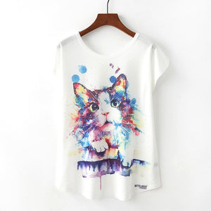 Animal-Themed Ladies Loose Shirts - Endangered Beauties LLC