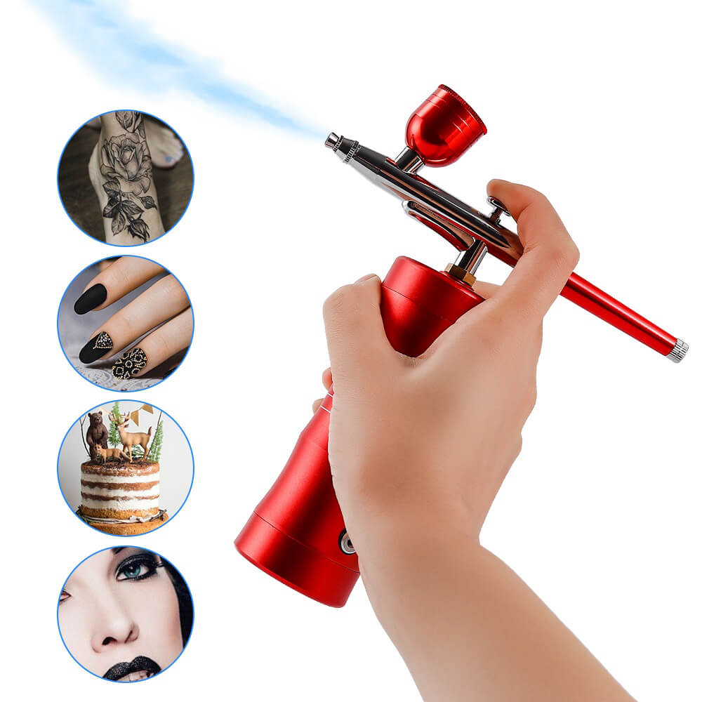 Mini Air Compressor Kit Air-Brush Paint Spray Airbrush