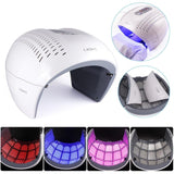 Round Foldable 4 Color PDT LED Photon Light Therapy Facial Mask