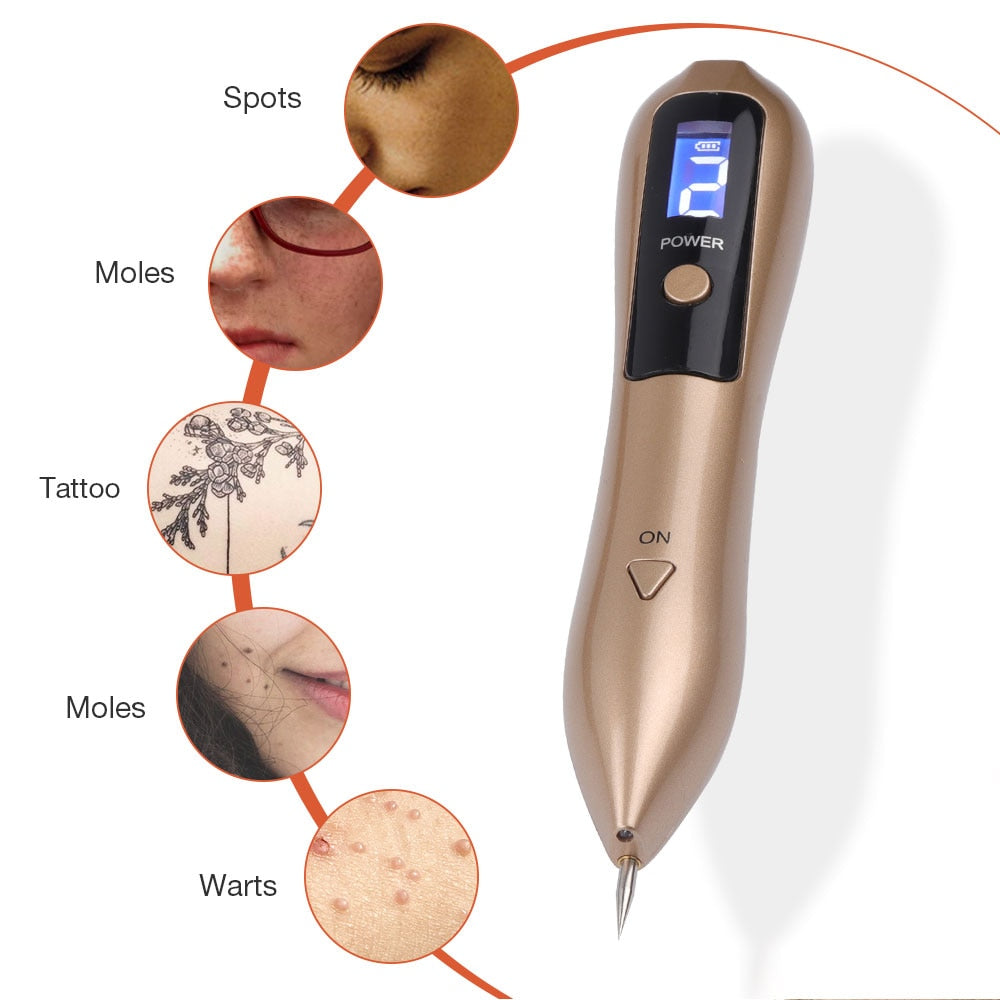 LCD Plasma Pen LED Lighting Laser Tattoo Mole Removal Machine