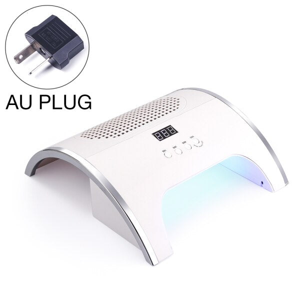 80W LED Nail Lamp Dryer With Fan Vacuum Cleaner Machine