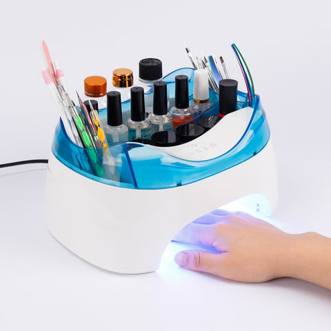 Nail Tools Storage Box With LED Lamps Nail Dryer