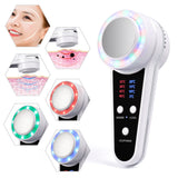 LED Hot Cold Hammer Skin Warm Ice Heating Facial Machine Device