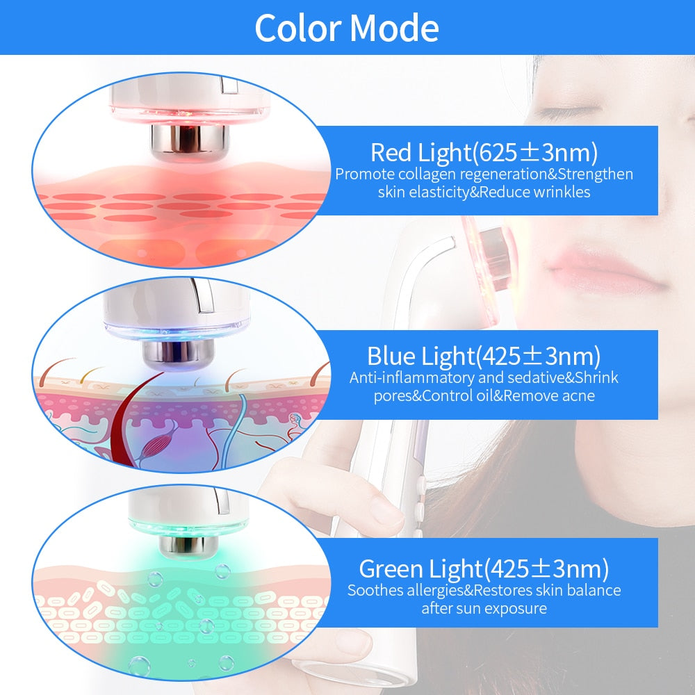 3 Colors LED Light Therapy Ultrasound Machine
