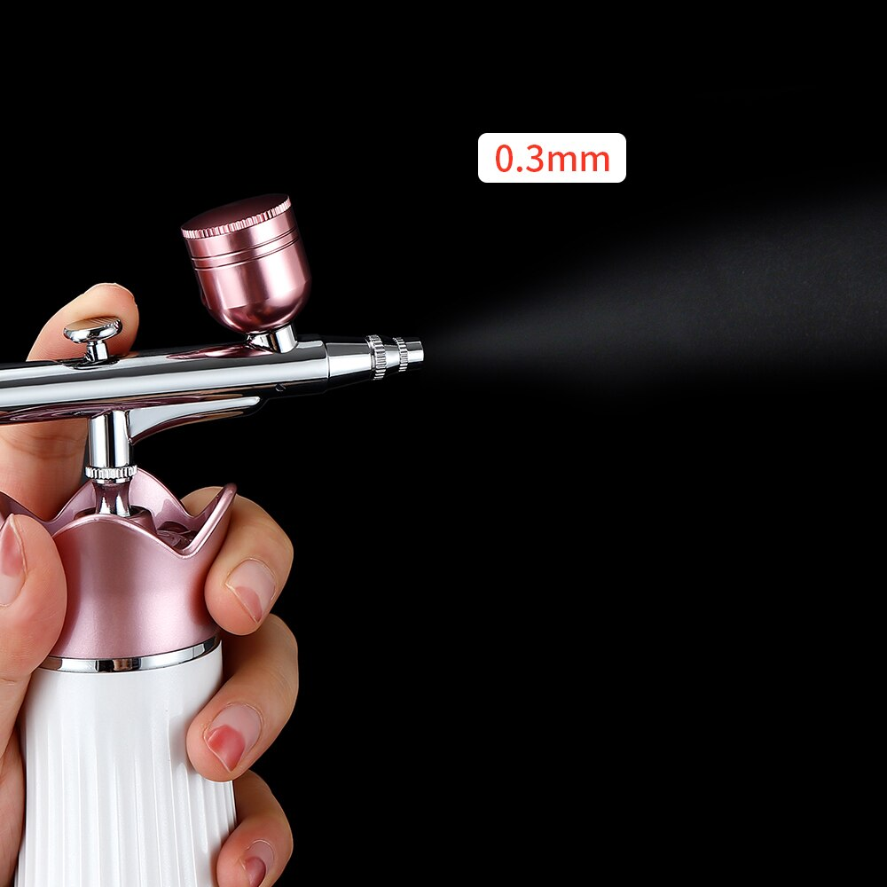 Dual Action 0.3mm Mini Air Compressor Kit Airbrush Tools