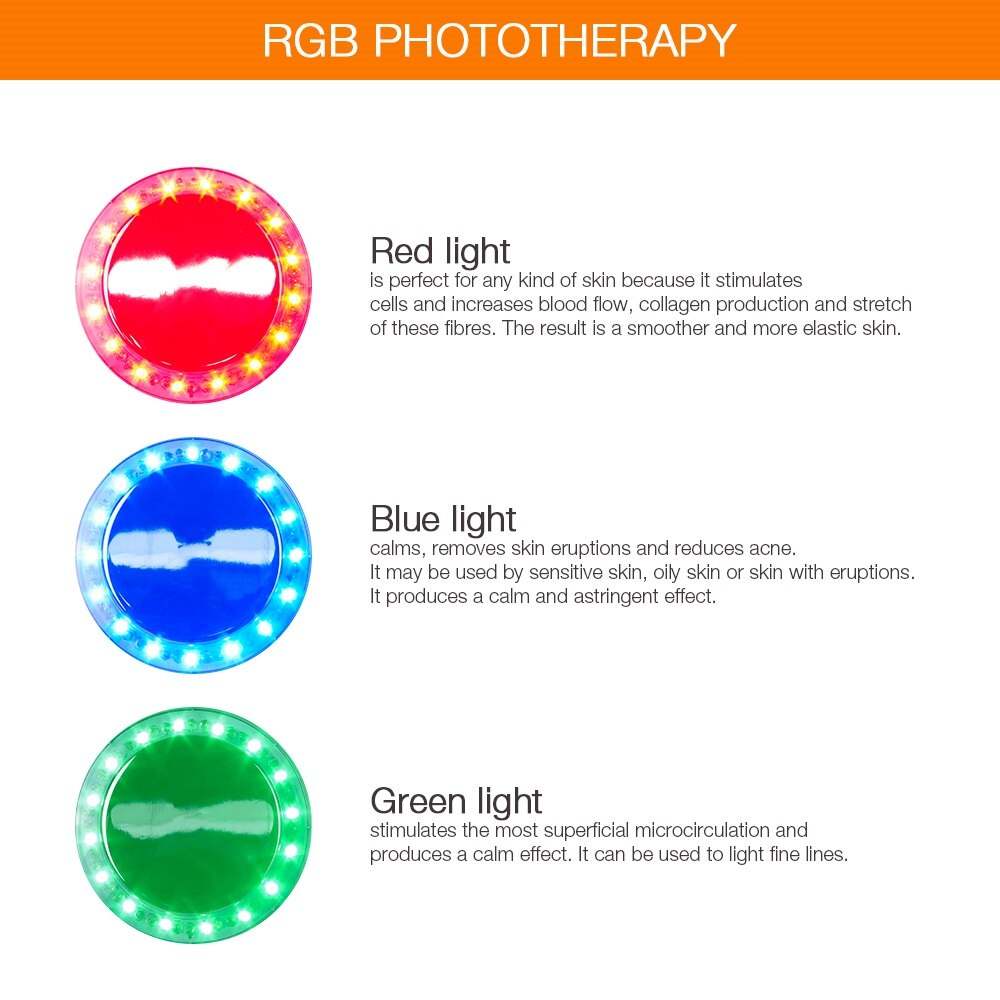 RGB Phototherapy Ultrasonic Ion Photon Body Slimming Shaper Beautiful Instruments
