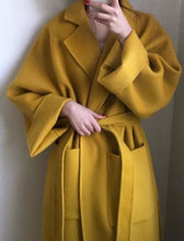 Load image into Gallery viewer, Long Bandage Woolen Coat