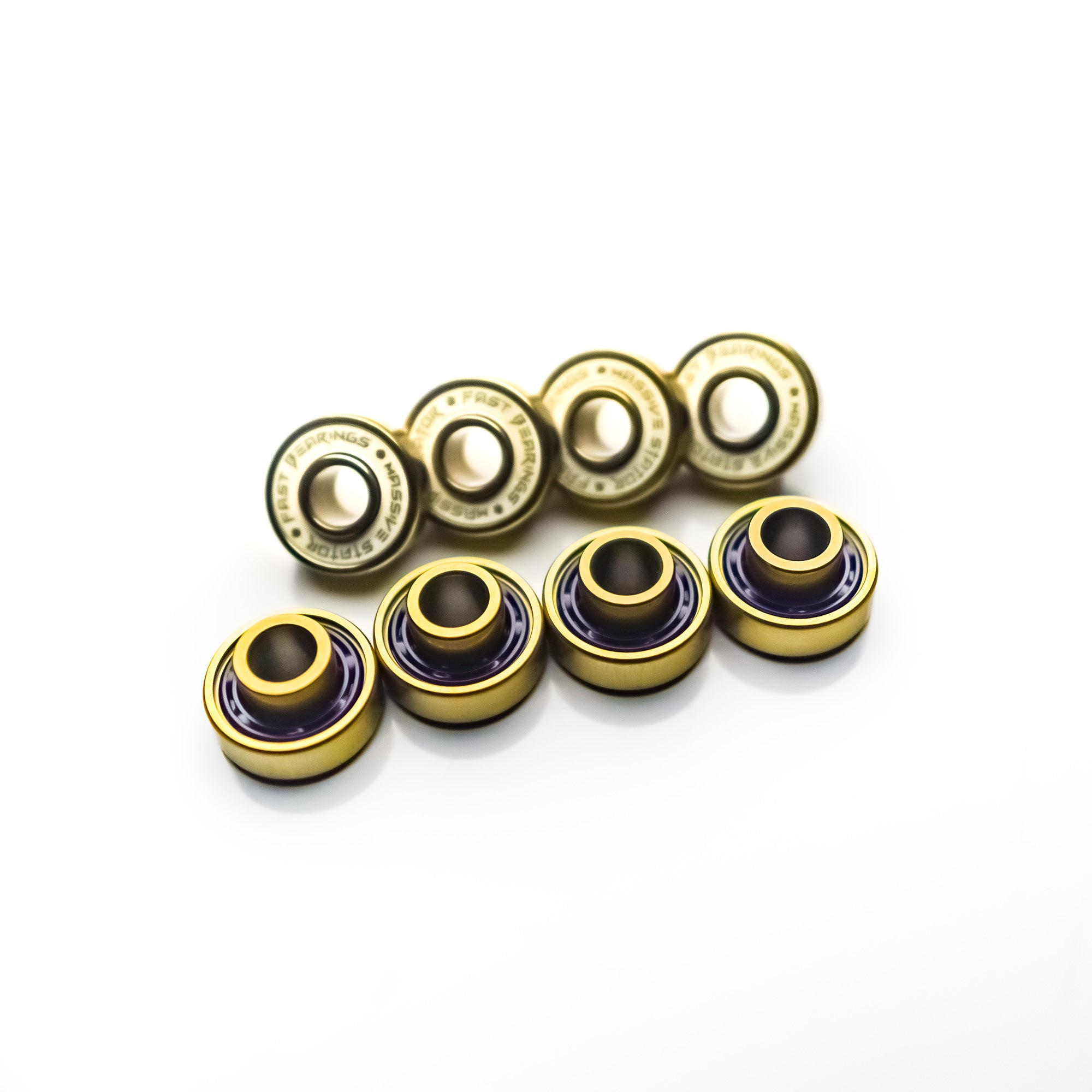 Titanium Fast Bearings With Built in Spacers 8pcs - Massive Stator