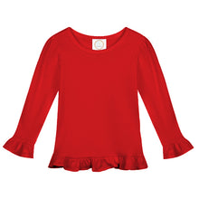 Load image into Gallery viewer, Tri-Star Long Sleeve Ruffle Top