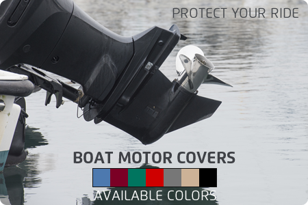 Quality Sea Breeze Boat Motor Covers Blue | Walk-Winn Plastic Co - affordable boat covers, bass boat covers, boat covers for pontoon boats, exact fit boat covers