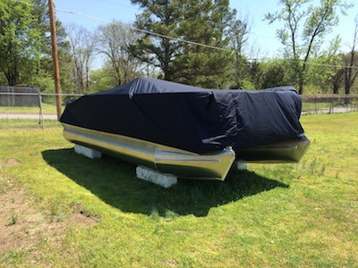 Heavy-Duty Pontoon Boat Covers Blue | Walk-Winn Plastic Co - pontoon boat storage cover, snow cover for pontoon boats, heavy duty pontoon boat cover, best pontoon boat cover, fitted pontoon boat covers
