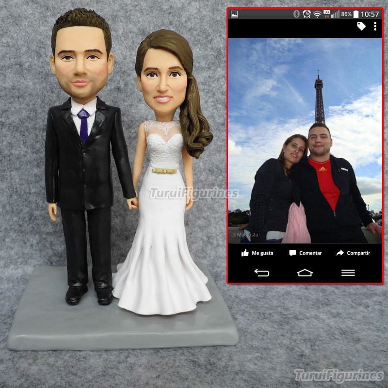 Personalised Wedding Bobblehead Figurines Dolls