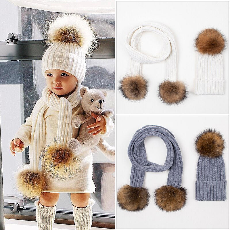 Wool Blend Fashionable Winter Hat For Kids