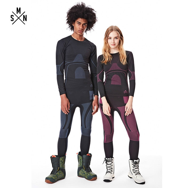 Ski Thermal Underwear Set For Men and Women
