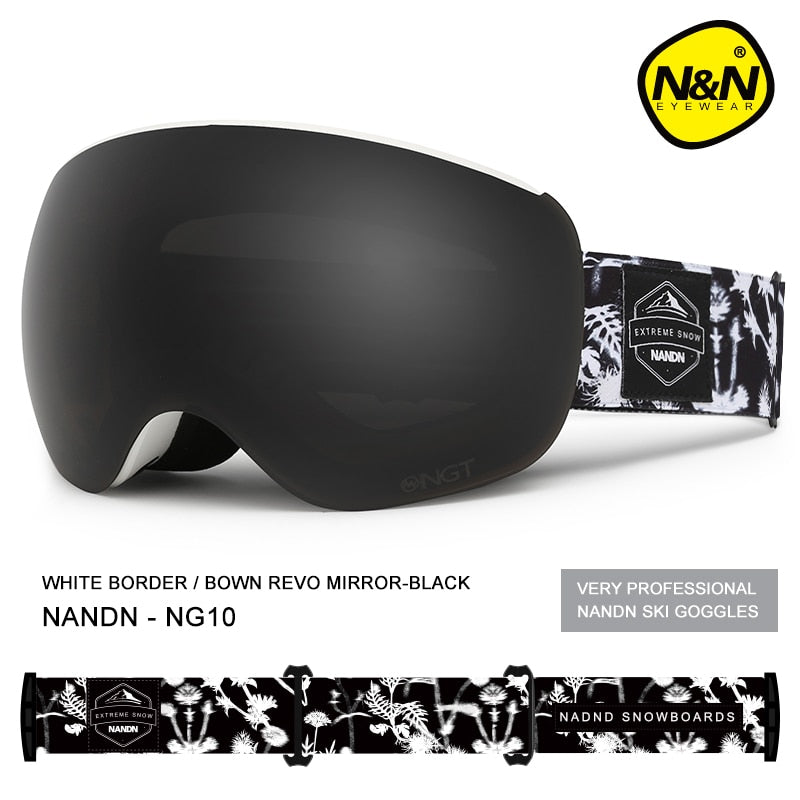 Snowboarding Ski goggles With Double Layer Lens And Anti-fog UV Protection