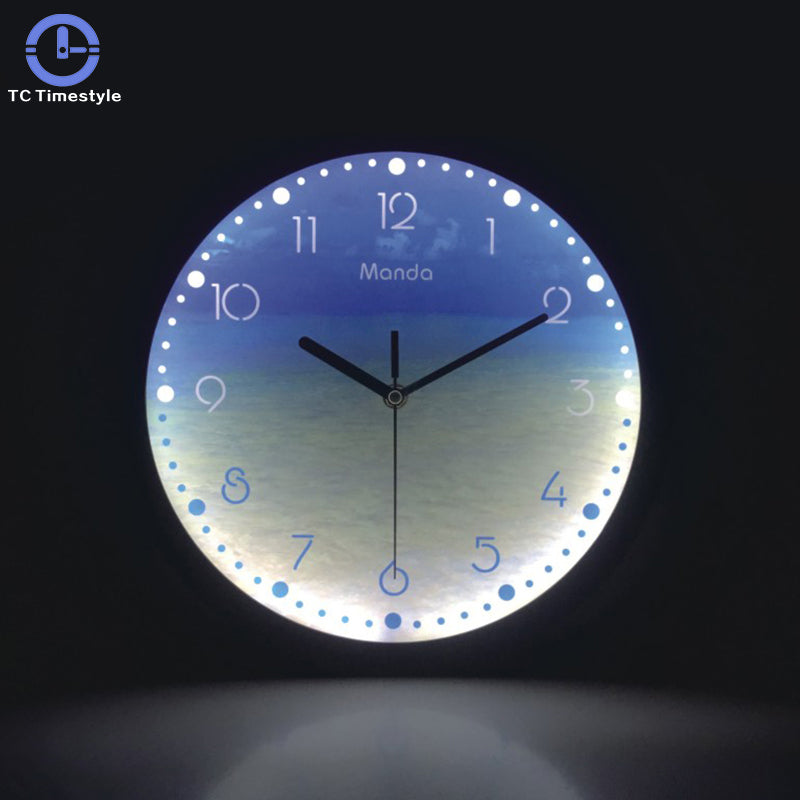 Luminous Modern Design LED Glowing Wall Clock