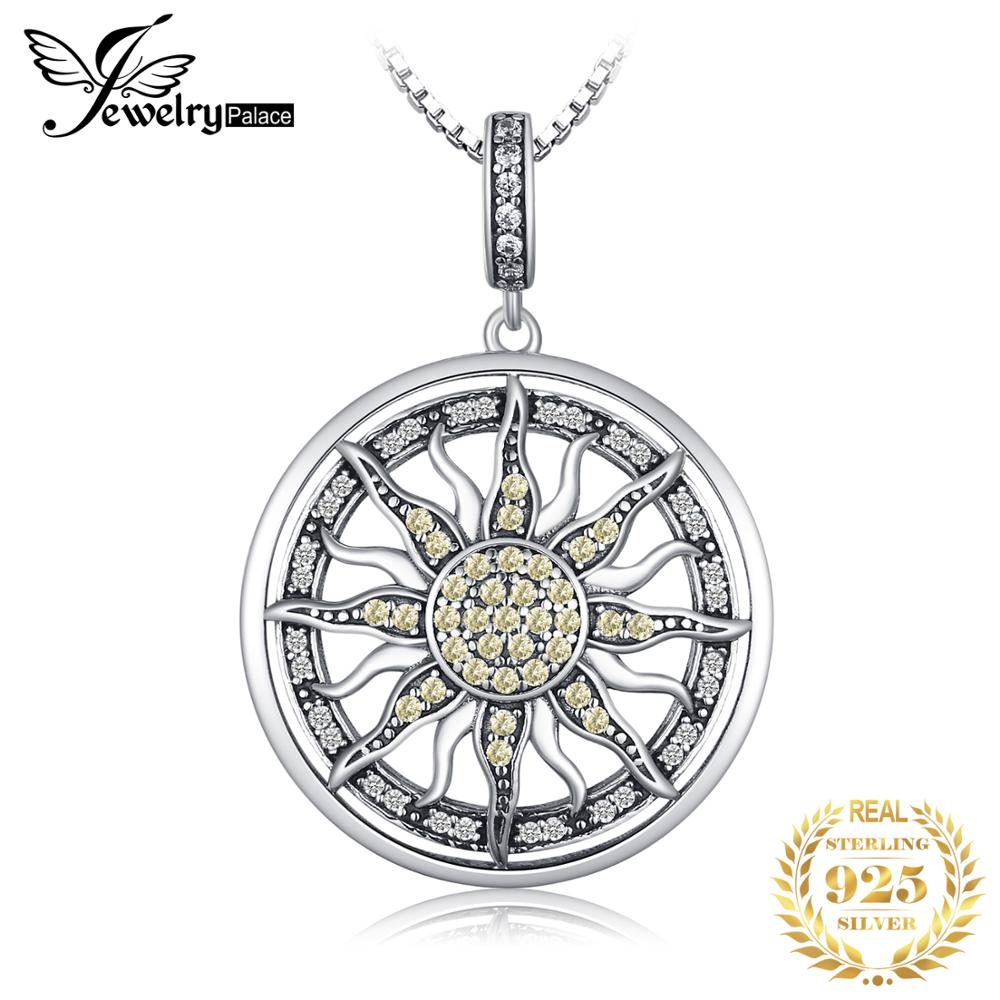 Celestial Sun Pendant For Women