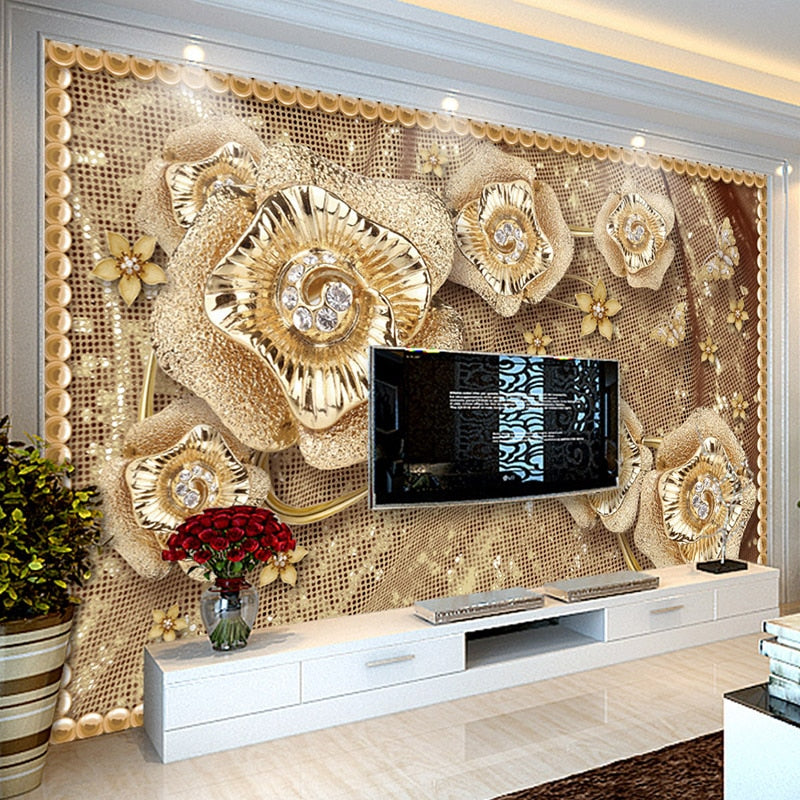 Custom Luxury 3D Wallpaper