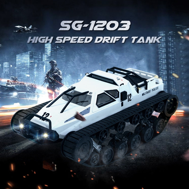Remote Control Tank With Gull-wing Door Toy For Kids