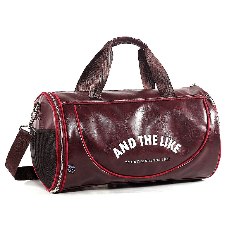 New Fitness PU Leather Bag with Large Capacity