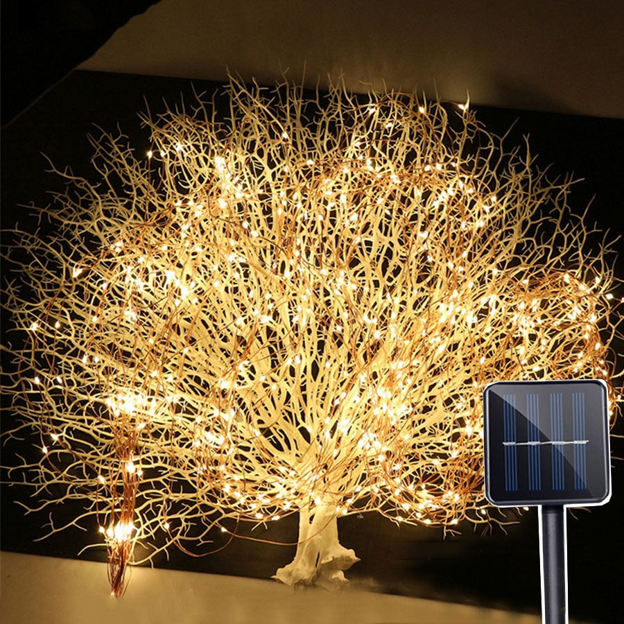Solar Vines Branch LED String Fairy Light
