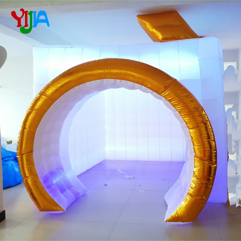 Camera Shaped Inflatable Photo Booth with LED Strip Lights