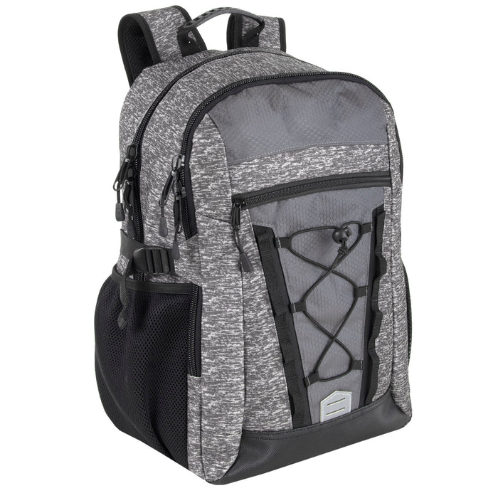 Wholesale 48cm Heather Bungee Backpack 35L Capacity With Laptop Sleeve