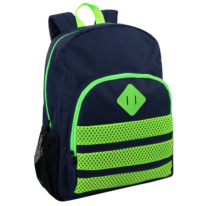 Wholesale 43cm Neon Stripes Backpack 25L Capacity