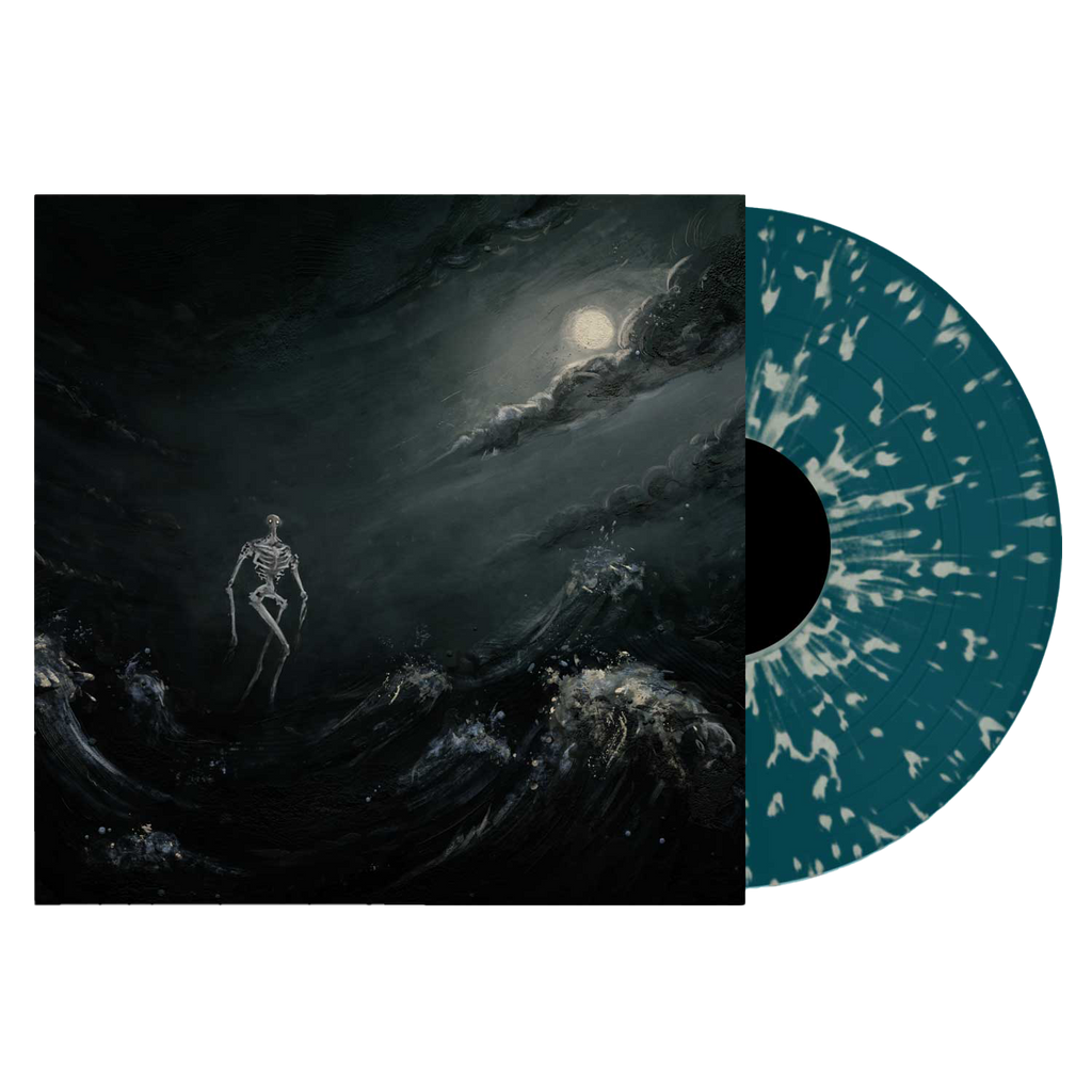 """Into The Raging Sea"" Sea Blue w/Bone Splatter Vinyl LP"