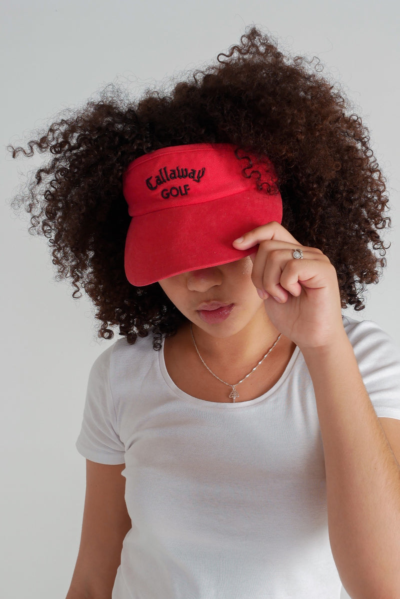 Red Callaway Golf Visor