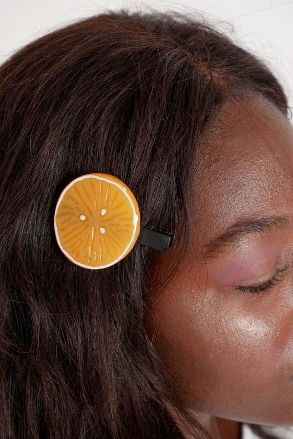 Orange Slice Hair Clips
