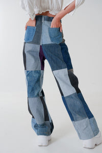 Denim Patchwork Jeans