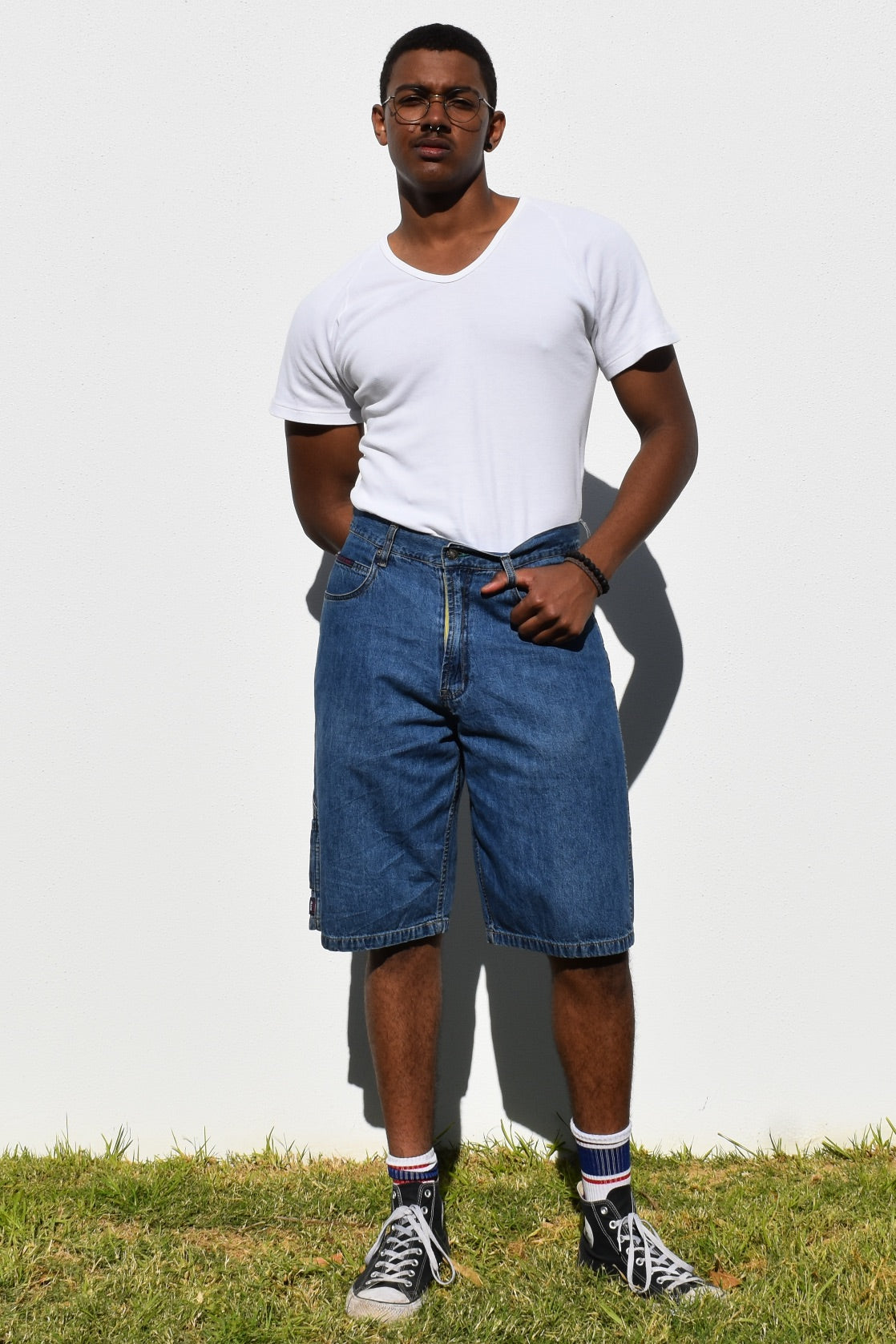 Tommy Hilfiger Knee Length Denim Shorts