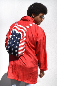 80s American Windbreaker With Built in Backpack