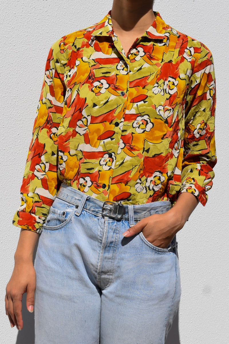 Floral Graphic Blouse