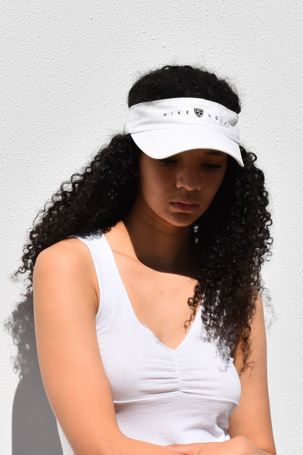 90's White Nike Golf Visor