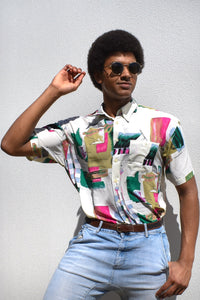 80's Abstract Dress Shirt