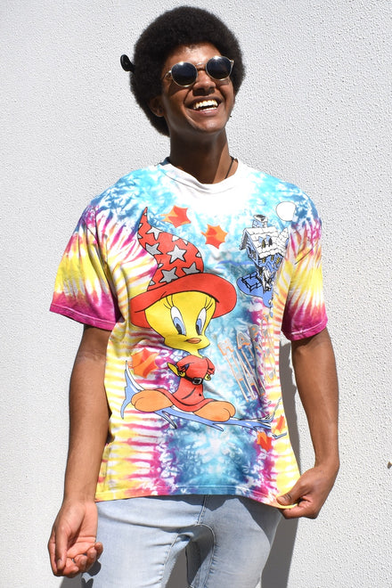 Tie Dye Tweety Bird Halloween T-shirt