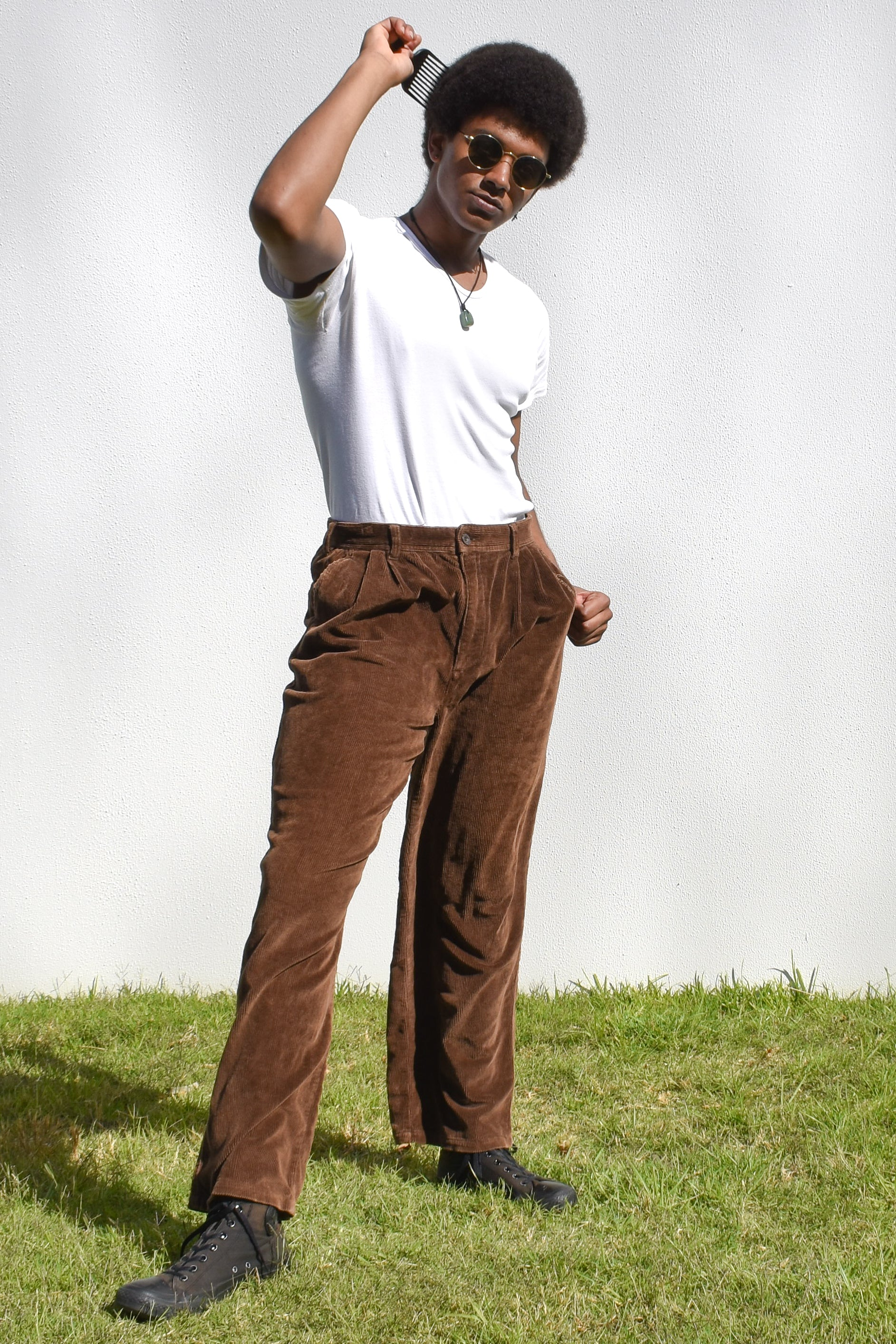 Brown Corduroy Slazenger Trousers
